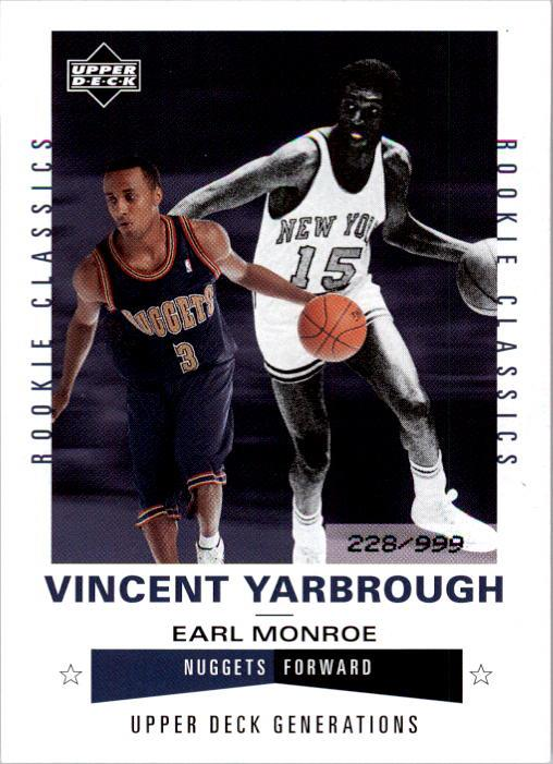 2002-03 Upper Deck Generations #224 Vincent Yarbrough/Earl Monroe