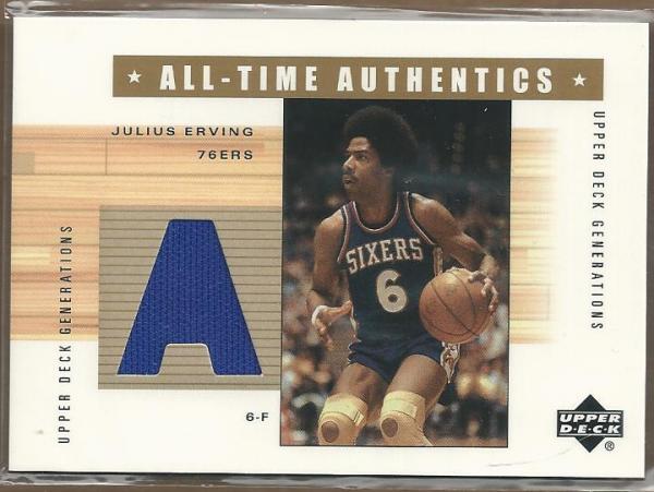 2002-03 Upper Deck Generations All-Time Authentics #JEA Julius Erving Blue