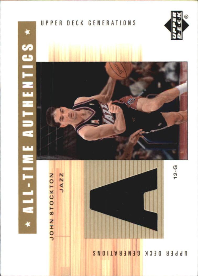 2002-03 Upper Deck Generations All-Time Authentics #JSA John Stockton