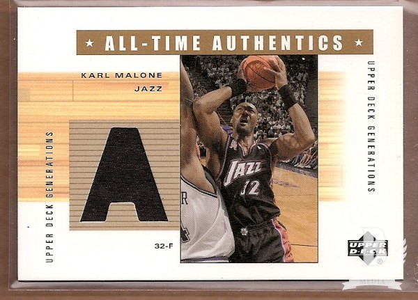 2002-03 Upper Deck Generations All-Time Authentics #KMA Karl Malone