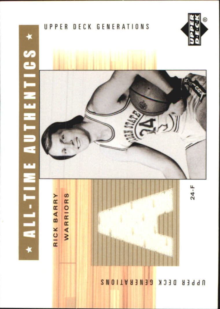 2002-03 Upper Deck Generations All-Time Authentics #RBA Rick Barry