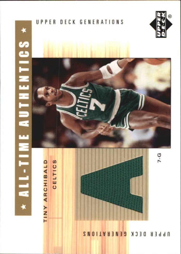 2002-03 Upper Deck Generations All-Time Authentics #TAA Nate Archibald Green