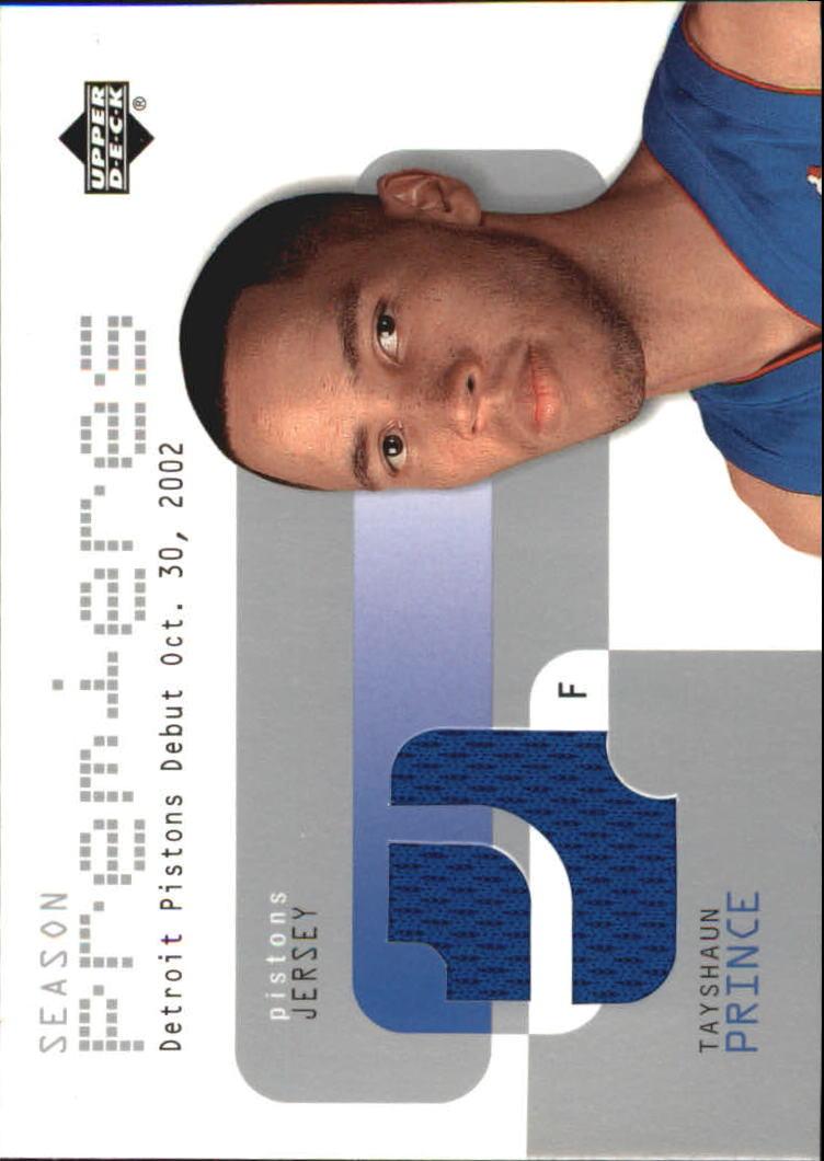 2002-03 Upper Deck Season Premier Jerseys #TPP Tayshaun Prince