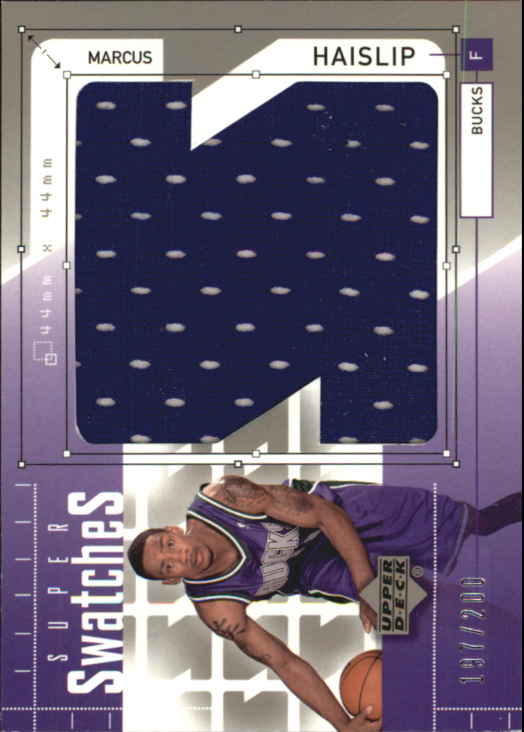 2002-03 Upper Deck Super Swatches Jerseys #MHS Marcus Haislip