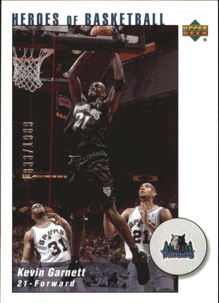2002-03 UD Authentics Kevin Garnett Heroes of Basketball #KG9 Kevin Garnett