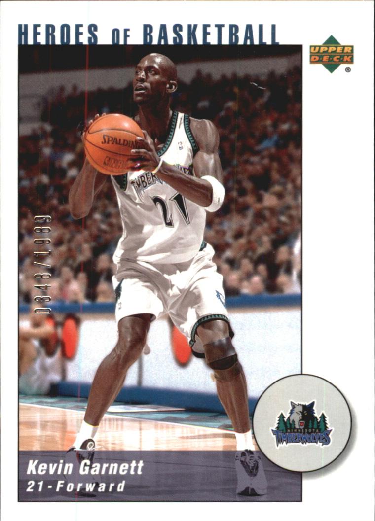 2002-03 UD Authentics Kevin Garnett Heroes of Basketball #KG10 Kevin Garnett