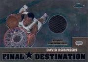 2002-03 Topps Chrome Destination Relics #FDDR David Robinson