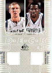 2002-03 SP Game Used Authentic Fabrics Dual #DNMFJ Dirk Nowitzki/Michael Finley