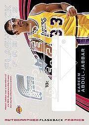 2002-03 SPx #95 Kareem Abdul-Jabbar JSY AU SP