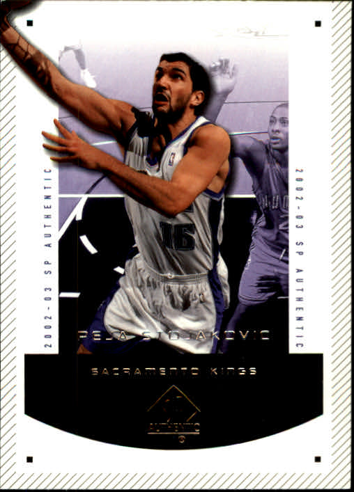 2002-03 SP Authentic #79 Peja Stojakovic