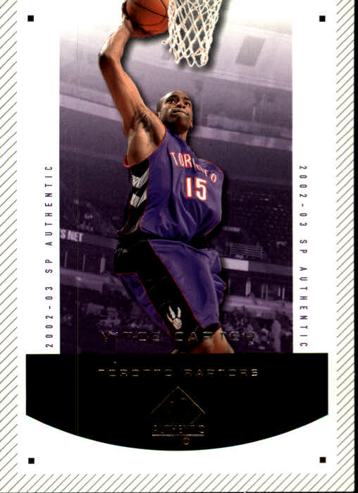 2002-03 SP Authentic #90 Vince Carter