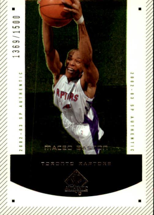 2002-03 SP Authentic #203 Maceo Baston RC