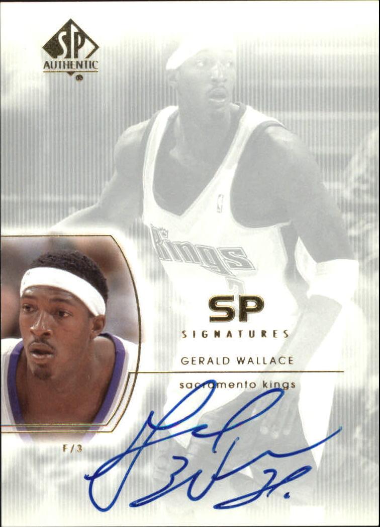 United 2002-03 Sp Signatures Gw Gerald Wallace Sacramento Kings Autograph Sports Mem, Cards & Fan Shop