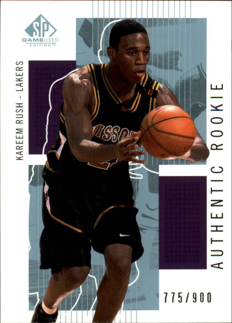 2002-03 SP Game Used #115 Kareem Rush RC
