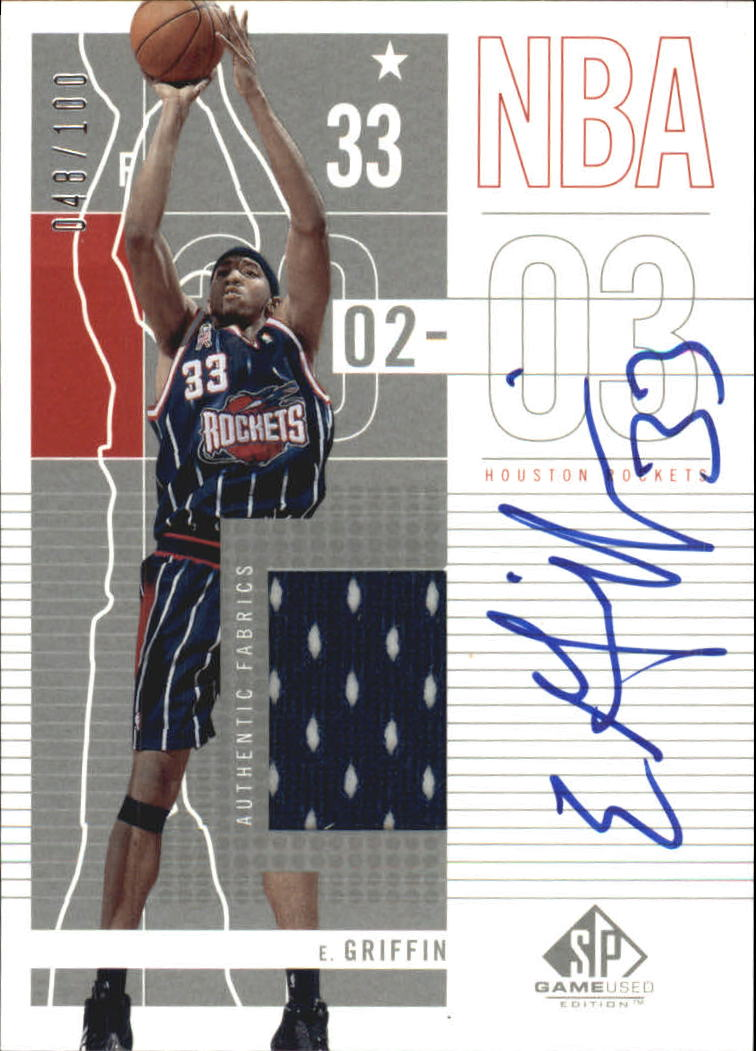 2002-03 SP Game Used Autographed Jerseys #34 Eddie Griffin