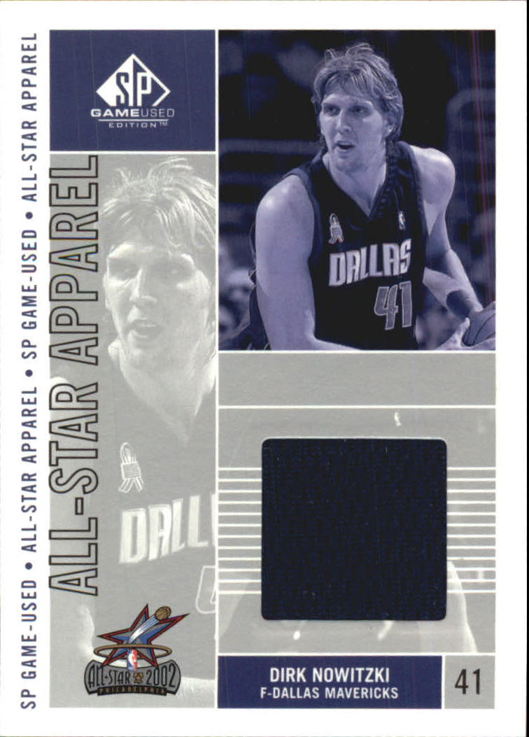 2002-03 SP Game Used All-Star Apparel #DNAS Dirk Nowitzki