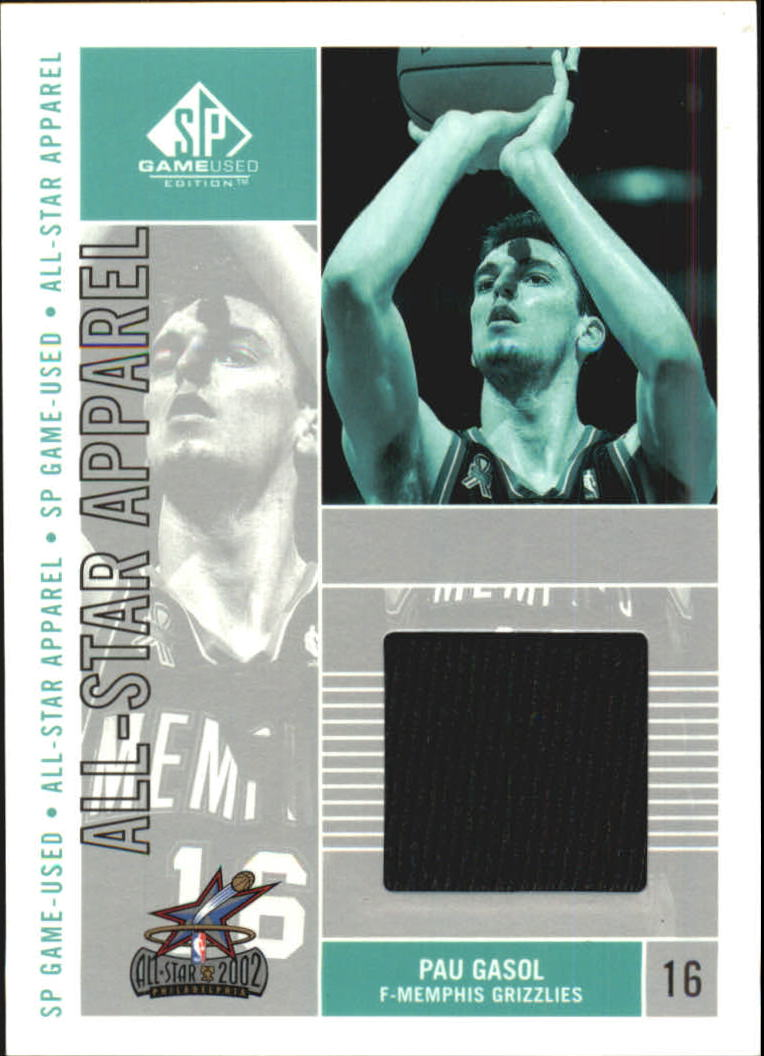 c05ab1089 2002-03 SP Game Used All-Star Apparel  PGAS Pau Gasol