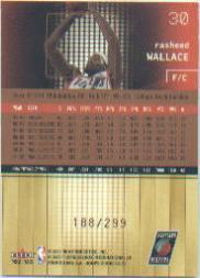 2002-03 Hoops Stars Five-Star #30 Rasheed Wallace back image
