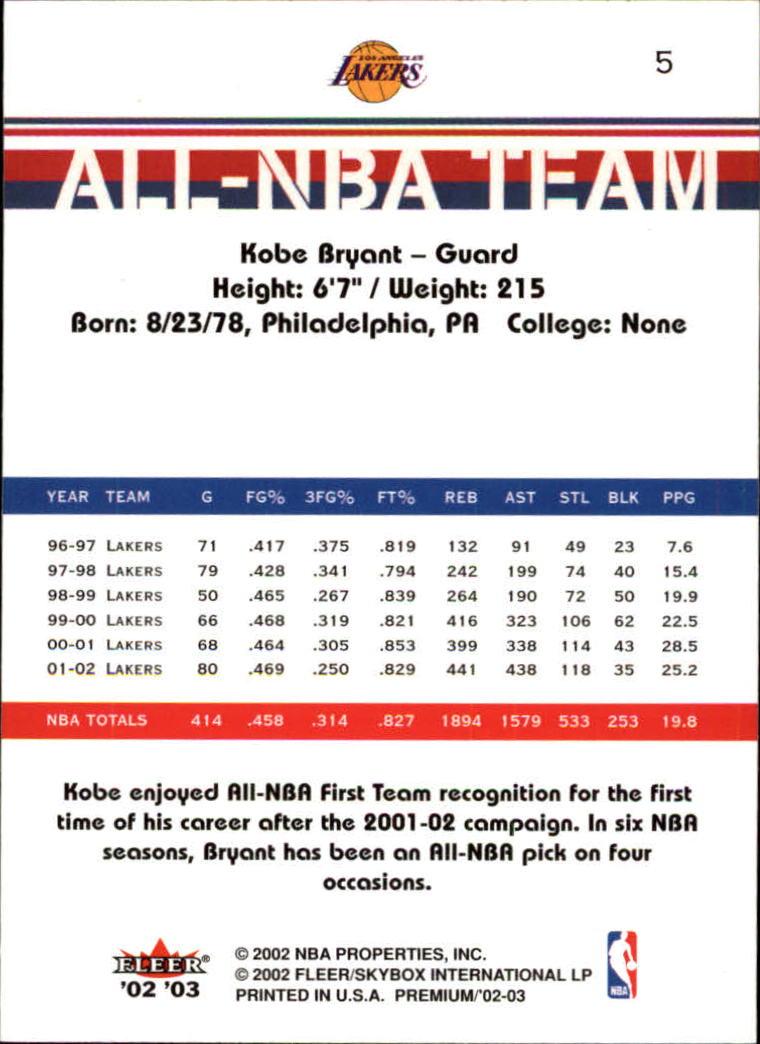 2002-03-Fleer-Premium-Basketball-Cards-Pick-From-List thumbnail 9