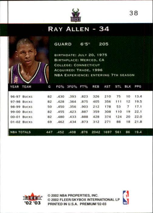 2002-03-Fleer-Premium-Basketball-Cards-Pick-From-List thumbnail 65