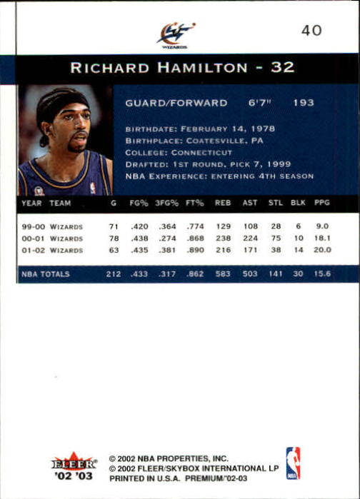 2002-03-Fleer-Premium-Basketball-Cards-Pick-From-List thumbnail 69