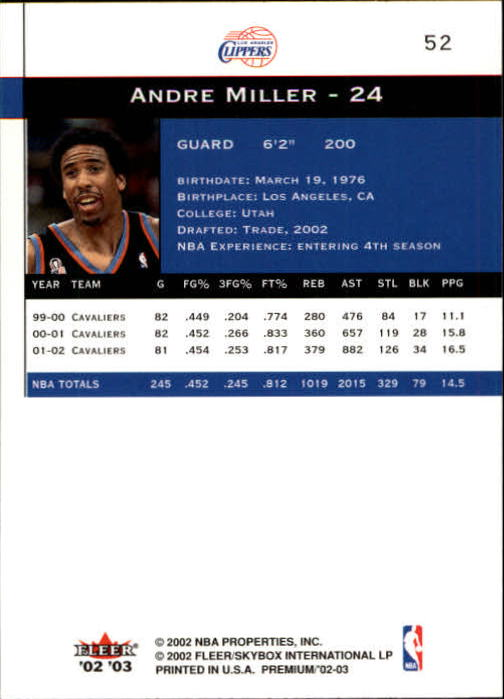 2002-03-Fleer-Premium-Basketball-Cards-Pick-From-List thumbnail 93