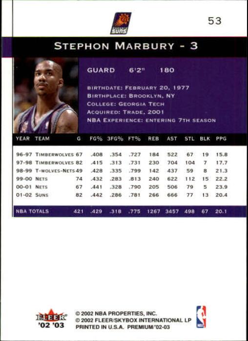 2002-03-Fleer-Premium-Basketball-Cards-Pick-From-List thumbnail 95