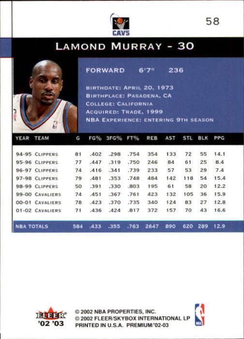 2002-03-Fleer-Premium-Basketball-Cards-Pick-From-List thumbnail 105