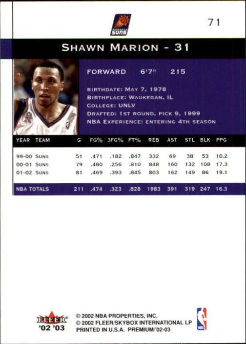 2002-03-Fleer-Premium-Basketball-Cards-Pick-From-List thumbnail 129