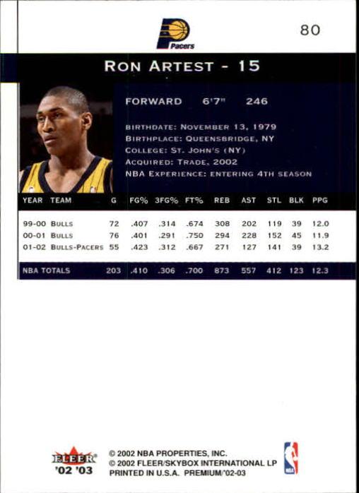 2002-03-Fleer-Premium-Basketball-Cards-Pick-From-List thumbnail 143