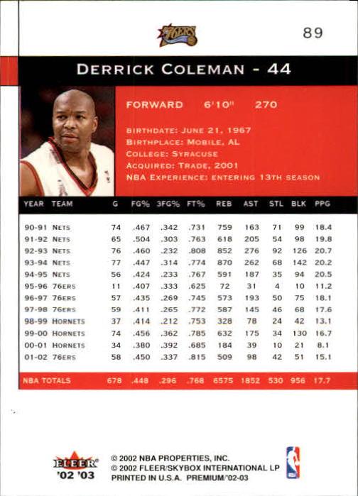 2002-03-Fleer-Premium-Basketball-Cards-Pick-From-List thumbnail 157