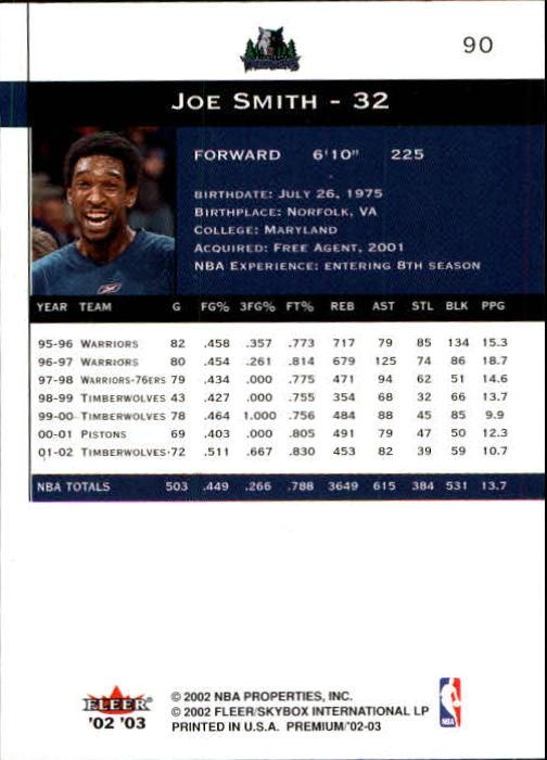 2002-03-Fleer-Premium-Basketball-Cards-Pick-From-List thumbnail 159