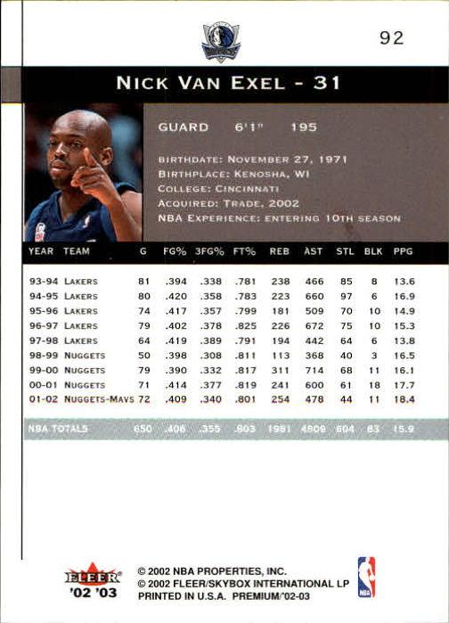 2002-03-Fleer-Premium-Basketball-Cards-Pick-From-List thumbnail 163