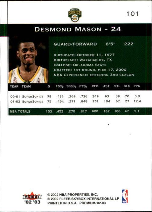 2002-03-Fleer-Premium-Basketball-Cards-Pick-From-List thumbnail 177