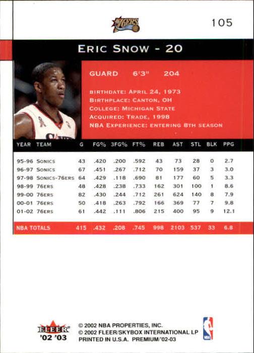 2002-03-Fleer-Premium-Basketball-Cards-Pick-From-List thumbnail 183