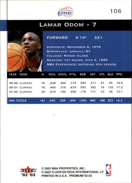 2002-03-Fleer-Premium-Basketball-Cards-Pick-From-List thumbnail 185