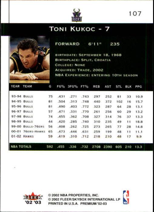2002-03-Fleer-Premium-Basketball-Cards-Pick-From-List thumbnail 187