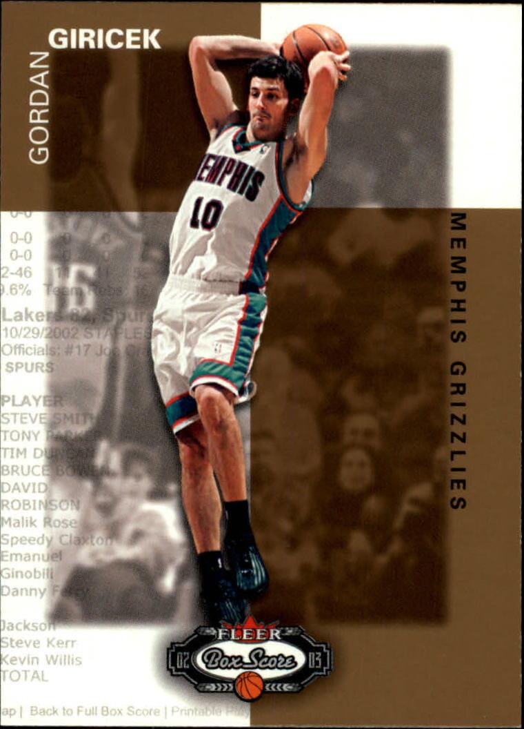 2002-03 Fleer Box Score #171 Gordan Giricek RS RC