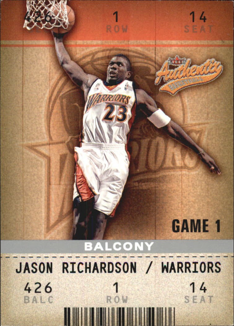 2002-03 Fleer Authentix Balcony #29 Jason Richardson
