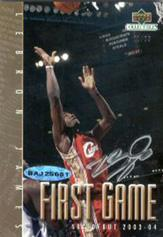 2003 UDA LeBron James #NNO LeBron James/First Game AU/23