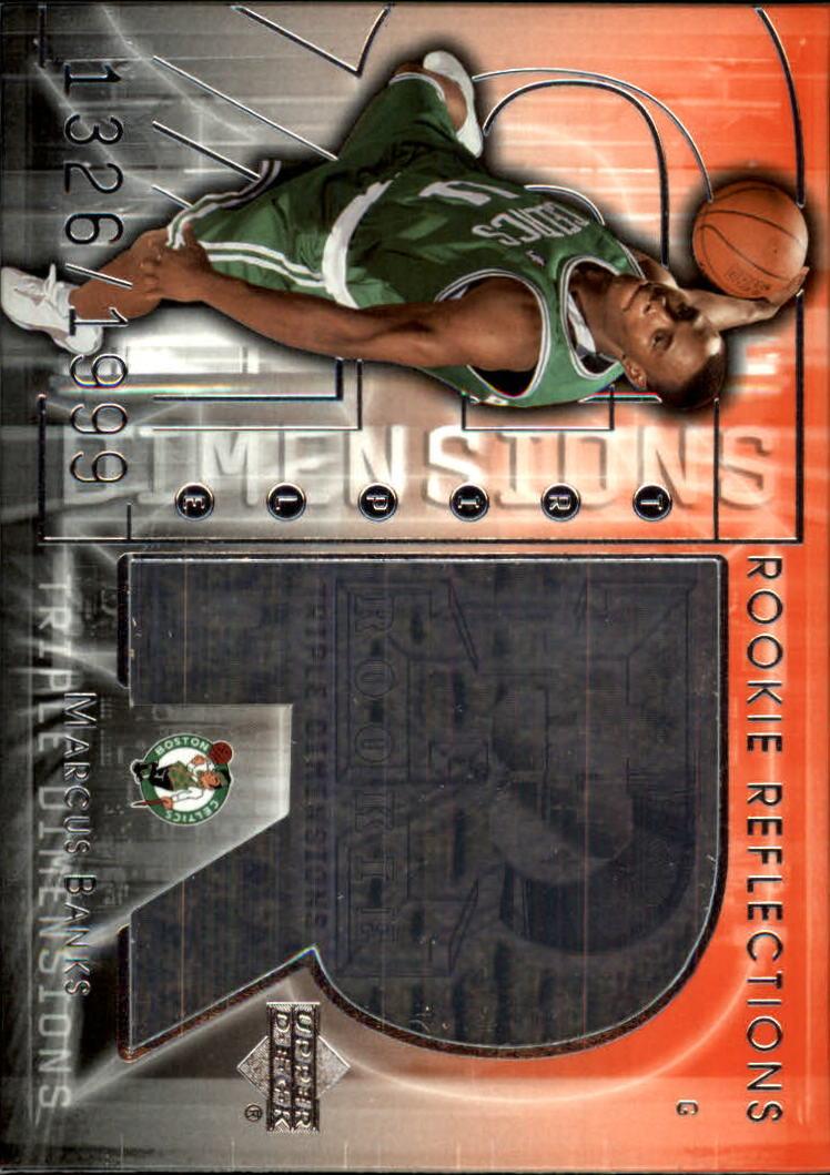 2003-04 Upper Deck Triple Dimensions #120 Marcus Banks RC