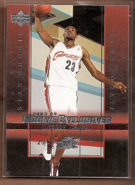 2003-04 Upper Deck Rookie Exclusives #1 LeBron James RC