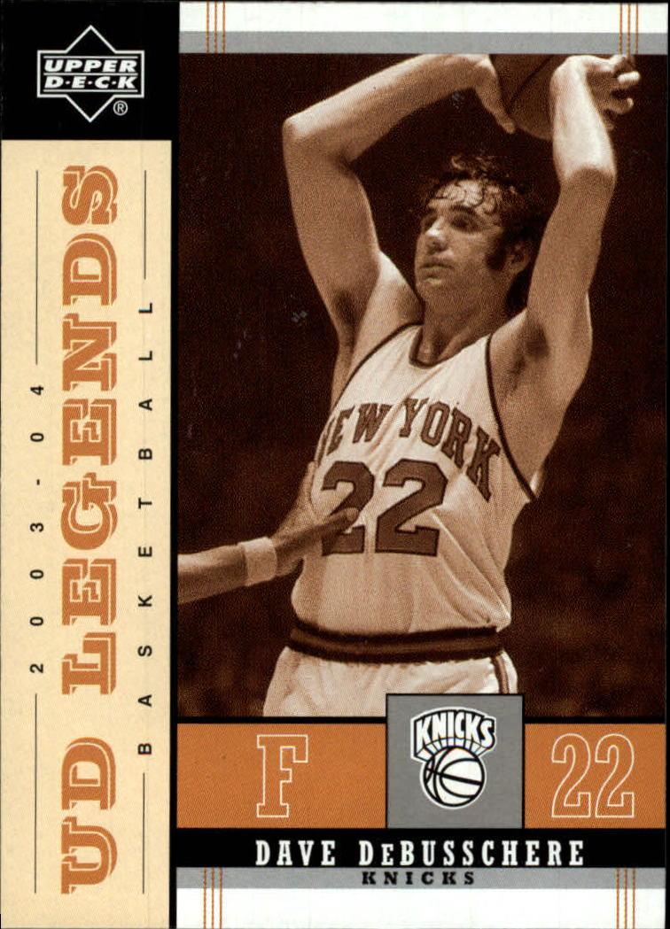 2003-04 Upper Deck Legends Throwback #58 Dave DeBusschere