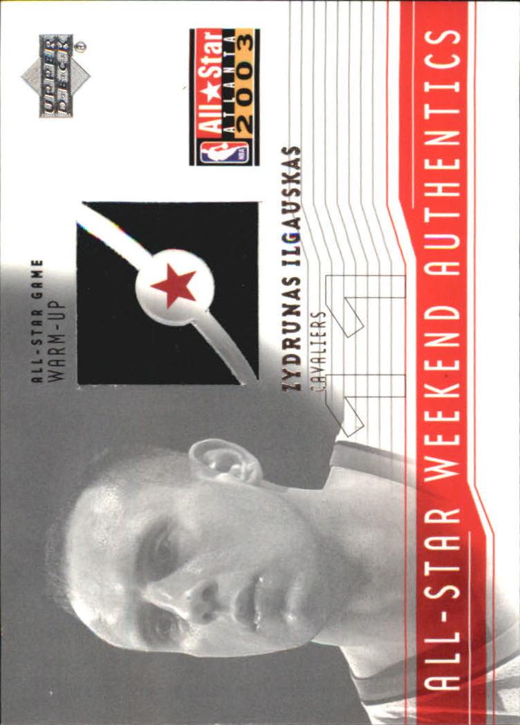 2003-04 Upper Deck All-Star Weekend Authentics #ASZI Zydrunas Ilgauskas