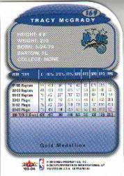 2003-04 Ultra Gold Medallion #169 Tracy McGrady back image