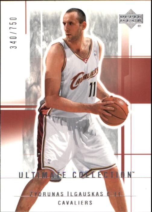 2003-04 Ultimate Collection #16 Zydrunas Ilgauskas