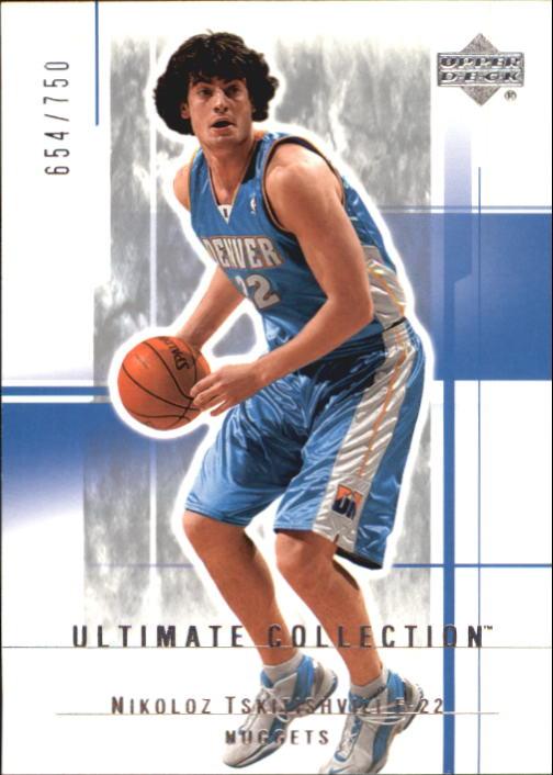 2003-04 Ultimate Collection #23 Nikoloz Tskitishvili