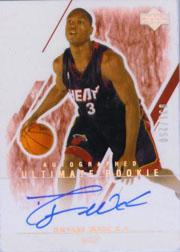 2003-04 Ultimate Collection #131 Dwyane Wade AU RC