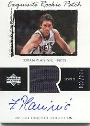 2003-04 Exquisite Collection #60 Zoran Planinic JSY AU RC