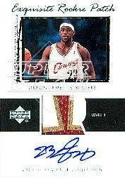 2003-04 Exquisite Collection #78 LeBron James JSY AU RC